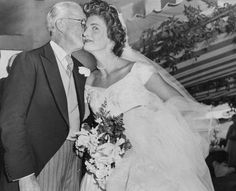 Senator John F. Kennedy with his blushing bride, Jacqueline Bouvier Kennedy on their wedding day, September 12, 1953. Description from pinterest.com. I searched for this on bing.com/images