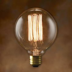 G30 Antique Light Bulb - 40 Watt - 3000 Hours - 130 Lumens