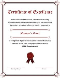 employee award certificates 5 free printable certificates of excellence templates