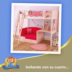 ¿Pensando en remodelar la habitación de tu hija? Inspírate en este mueble súper práctico y lindo para darle a su cuarto un toque espectacular.