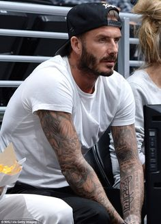 Designed by a Beckham? Although it is not yet known if this latest work is a real tattoo, ...