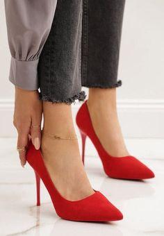 Pantofi stiletto Nacionales Rosii