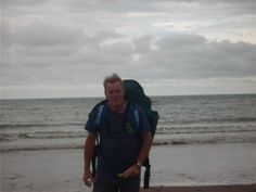Dad at St Bees Head - getting his feet wet!