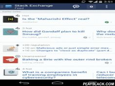 Stack Exchange  Android App - playslack.com ,  Stack Exchange is a network of 100+ question and answer communities on everything from software programming to cooking, photography, and gaming. With this app you can:• Track all your interests in one place with the new combined feed view• Get instant notifications when you receive an answer or comment• Search for questions, or browse by tag• Ask, answer, comment and vote on questionsThis is the official app for all Stack Exchange sites…