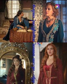 """Fatma is often accused from """"stealing"""" Hürrem's dress and I have to admit, she is the biggest reuser of them. But I don't think we should be very harsh on her because of this, she is not responsible for the decisions of the costume designers, and after all, Meryem Uzerli and Meltem Cumbul just have the same clothe size..."""