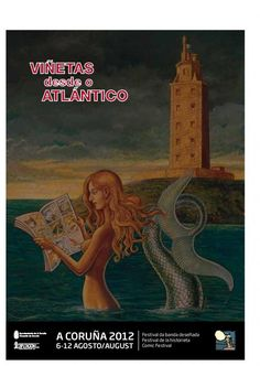 Cartel Viñetas dende o Atlántico.