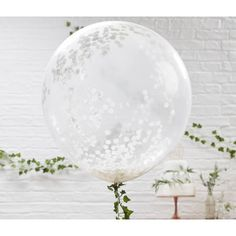 Giant White Confetti Balloons   Ginger Ray Party Supplies   The Original Party Bag Company