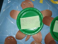 Paper Plate turtle to display writing...Bulletin Board :) Writing Bulletin Boards, Classroom Crafts, Paper Plates, Second Grade, Turtles, Art Lessons, School Ideas, Crafts For Kids, Preschool
