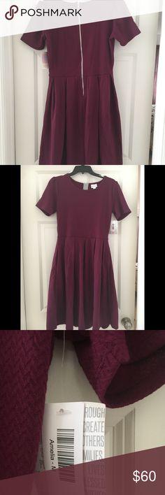 Lularoe Amelia dress Burgundy Lularoe Amelia dress. Size medium. New with tags. LuLaRoe Dresses