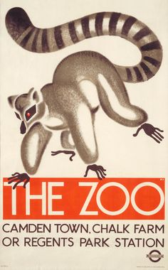 Vintage London a Transport Poster by Oleg Zinger:  The Zoo
