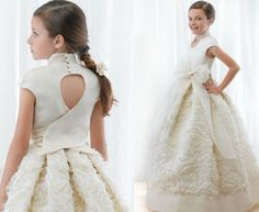 The most beautiful dresses ever! Little Girl Dresses, Girls Dresses, Flower Girl Dresses, I Dress, Baby Dress, Holy Communion Dresses, Frocks For Girls, Baptism Dress, Baby Couture