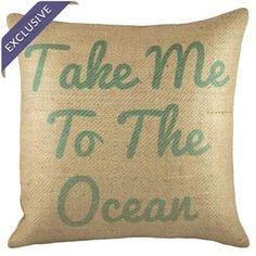 Take Me to the Ocean Pillow