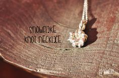 Snowflake Knot Necklace~ Sterling silver necklace! Frozen Necklace!