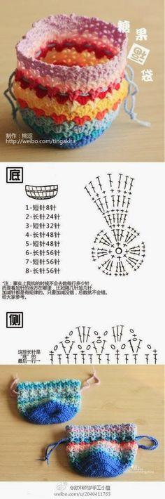 - Handmade DIY Weaving Candy Blessing Bag-Peach Astringent ……- Handmade DIY We… Handmade DIY Weaving Candy Blessing Bag-Peach Astringent ……- Handmade DIY Weaving Candy Blessing Bag-Peach Astri Crochet Diy, Crochet Pouch, Love Crochet, Crochet Gifts, Crochet Bags, Crochet Ideas, Crochet Diagram, Crochet Chart, Tricot Facile