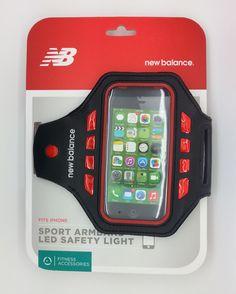 NEW BALANCE SPORT ARMBAND LED SAFETY LIGHT FITS IPHONE 5S 5C 5 4S 4 3GS 3G 3-NEW #NewBalance