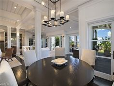 Breakfast nook with an ocean view.  Broad Ave in Olde Naples, Florida
