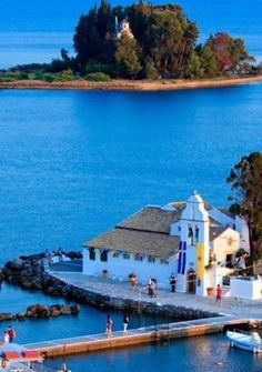 Introductionpontikonisi Island Is Situated Just South Of Corfu Town Near The Resort Of Perama And Kanoni It Is A Small Island Which Hous
