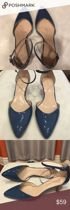 Brand new Franco sarto heels Gorgeous Franco Sarto blue patent leather heels! Brand new, never wore!  Size 9 ( more on the narrow width) Only selling because my feet grew after pregnancy. Smoke and pet free home Franco Sarto Shoes Heels