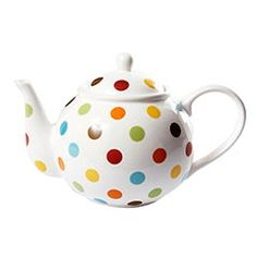 polka dots on a tea pot? i can't argue with that!