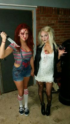 62 Scary Halloween Costumes Ideas for Women Unique Creative and Funny Look 40 Scary Halloween Costumes Ideas for Women Unique Creative and Funny Look - Lifestyle Spunk Halloween Costumes Women Creative, Couples Halloween, Best Friend Halloween Costumes, Halloween Outfits, Funny Halloween, Group Halloween, Homemade Halloween, Cleaver Halloween Costumes, Costume Ideas For Friends