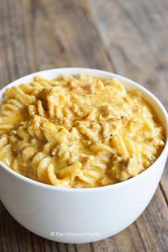 If you love traditional cheese burger pasta that uses the boxed hamburger helper, trying this real food version. The kids will love it!
