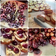 Pinot Party!: The Appetizer – Roasted Grape and Camembert Crostini | Hope at Home