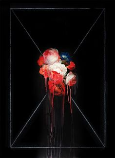Ted Pim - Pinturas al óleo - The Cool Hunter - The Cool Hunter Floral Photography, Amazing Photography, Baroque Painting, Floral Drawing, Old Master, Dark Backgrounds, Street Artists, Black Canvas, Urban Art