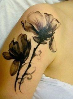 black lily tattoo