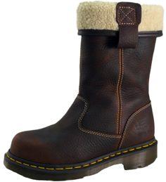Dr Martens Women's Faux Fur Lined saftey Rigger Boot Teak – Safety-Site