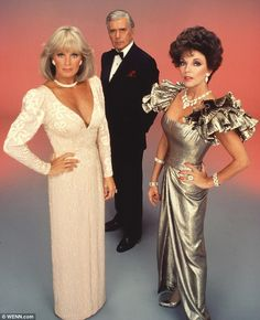 Fancy: His creations, seen above, sparked the huge Eighties fashion trend of wearing thick shoulder pads