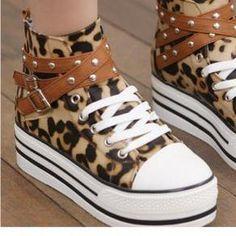 platform converse leopard Platform Converse, Platform Sneakers, High Top Sneakers, Must Haves, High Tops, My Style, Google, Image, Prints