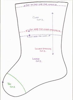 free xmas stocking pattern