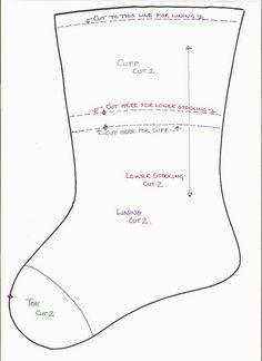 free xmas stocking pattern