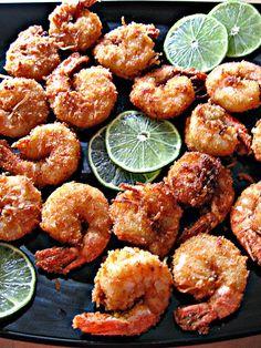 Coconut and Lime Battered Shrimp #recipe #shrimp #food