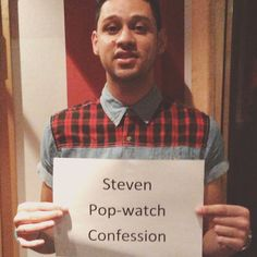 Guess which TV show Steven from the group Four, is addicted to? #popwatchconfession