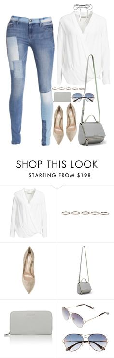 """""""Untitled #1668"""" by samikayy76 on Polyvore featuring By Malene Birger, Lilou, Henson, Gianvito Rossi, Givenchy, patchwork and patchworkdenim"""