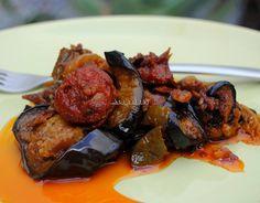 Asopaipas. Recetas de Cocina Casera                                                               .: Berenjenas con Chorizo y Verduras