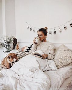 Cozy Winter & Fall | Lazy Morning | Coffee | Cute Dog | Don't Wanna Leave This Bed | Comfy Blanket
