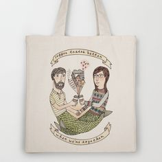 Coffee Tastes Better Tote Bag by Brooke Weeber - $18.00