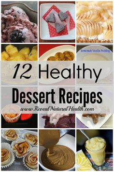 These 12 healthy dessert recipes will allow you to prepare sweet treats with real ingredients for your family without feeing guilty. Sugar Free Desserts, Healthy Dessert Recipes, Healthy Treats, Just Desserts, Yummy Treats, Delicious Desserts, Sweet Treats, Yummy Food, Healthy Food