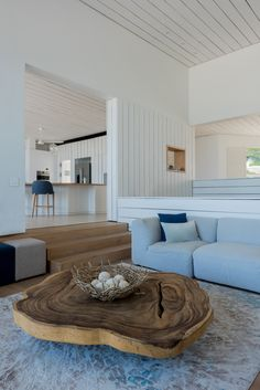 Rough sawn, painted Pine, juxtaposed with smooth French Oak accents, flooring and counters in this seaside residence. #timbercladding #architects #timberflooring Timber Cladding, Timber Flooring, French Oak, Seaside, Architects, Pine, Smooth, Table, Projects