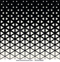 Abstract geometric black and white deco art print halftone triangle pattern Geometric Pattern Design, Triangle Pattern, Graphic Patterns, Animal Art Projects, Toddler Art Projects, Art Deco Tattoo, Hexagon Vector, Geometric Sleeve Tattoo, Geometric Wall