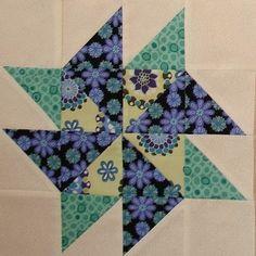 Pinwheel Sampler Quilt Block 14 - May 2010 by Happy 2 Sew, via Flickr