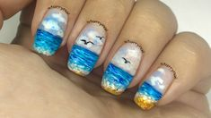 Ocean Nails [Freehand Nail Art]