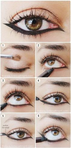 Up - side - Down Cat Eye - #cateye #eyemakeup #eyeliner #eyes #makeup #eyetutorial #thebeautydepartment - bellashoot.com