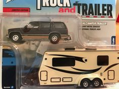 Johnny Lightning Truck & Trailer 2018 Release 2A * 1997 Chevy Tahoe & Camper #JohnnyLightning #Chevrolet