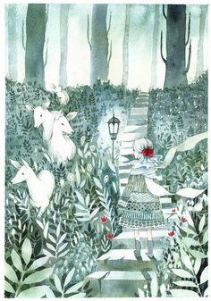Porcelain Forest by pepperin on @DeviantArt