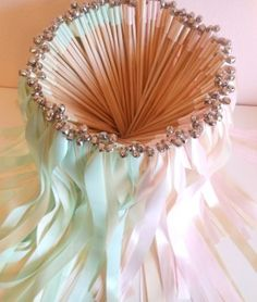 Wedding Wands - 100 double ribbon wands with bells, party streamers, wedding send off, customize your colors Wedding Send Off, Wedding Favors, Diy Wedding, Wedding Reception, Dream Wedding, Wedding Decorations, Wedding Day, Reception Ideas, Craft Wedding