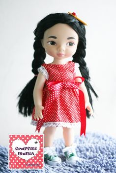 As I am falling in love with these Disney Animator's Doll, I really want to make a beautiful dress for them. Here are some of my crafts.  The dress has sold in Craffiti Mania brand (my own brand). Please visit https://www.facebook.com/CraffitiMania  #Disney #Animator #Doll