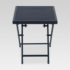 Lightweight and breezy, this Aluminum Slat Folding Patio Accent Table from Project 62™ makes a great addition to your patio space. It comes with a sleek yet sturdy aluminum frame and an elegant slatted tabletop to hold all your snacks and beverages. It's perfect as extra table space when having guests over, while the folding feature allows for easy storage when not in use. Versatile and attractive, this patio table can even double as a side table in your living room. The solid co...